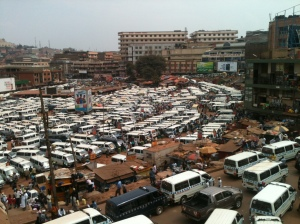The Old Taxi Park in the center of Kampala, Uganda.